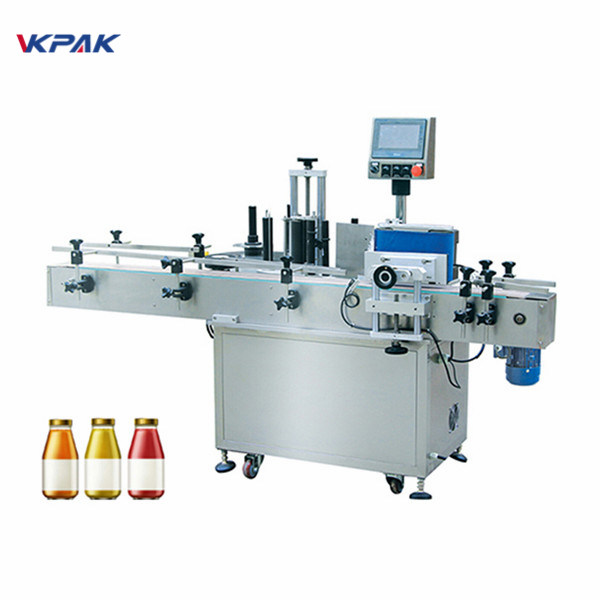 Machine d'étiquetage d'autocollant de bouteille ronde d'eau potable 5L
