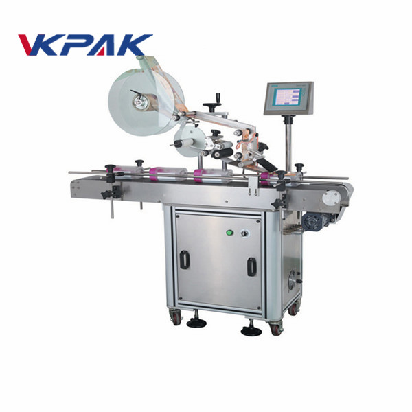 Machine automatique d'applicateur d'étiquette de surface plate pour des poches