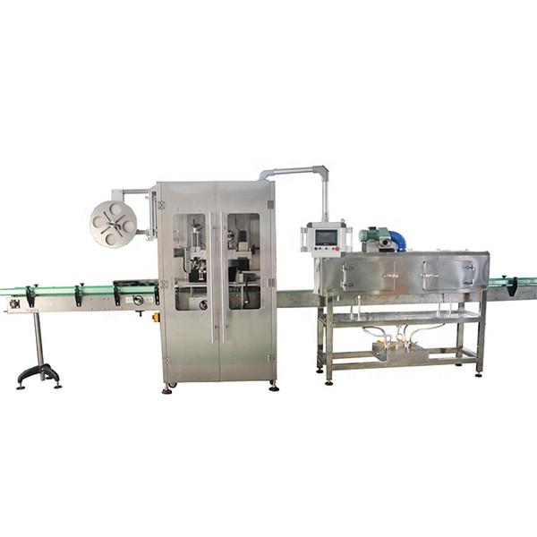 Machine à étiqueter double face de manchon rétractable d'acier inoxydable pour diverses bouteilles