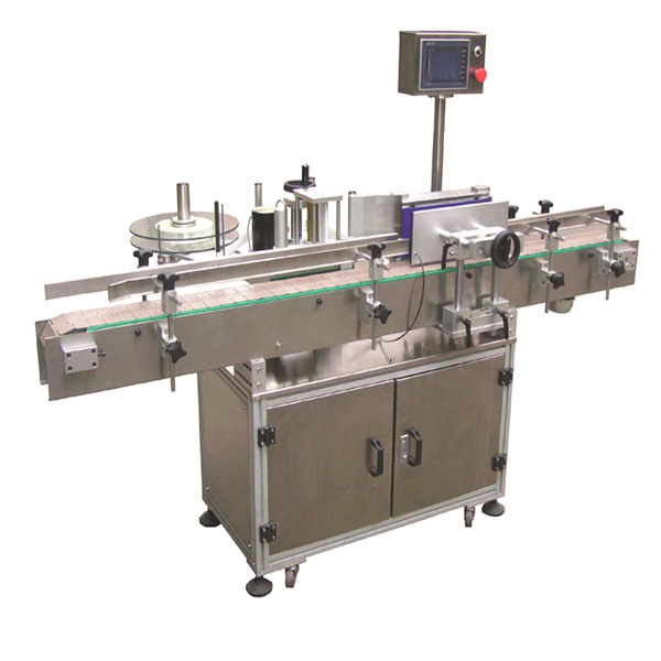 Machine à étiquettes automatique d'autocollant de rayon flexible avec les doubles sacs en papier latéraux
