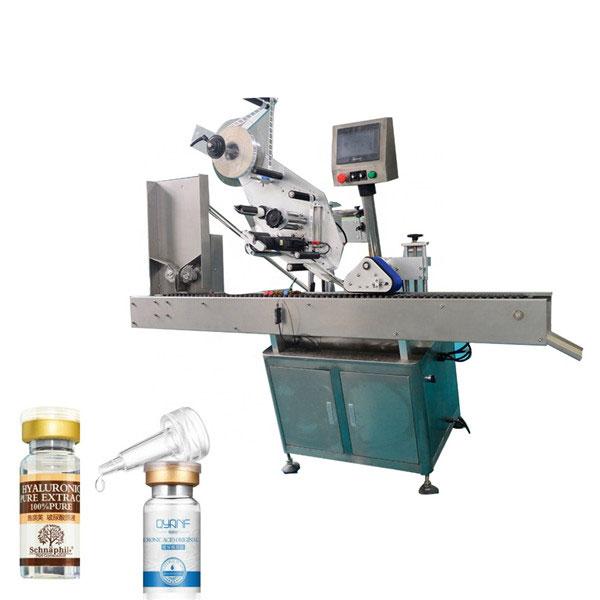 Machine à étiqueter automatique à grande vitesse de flacon supérieur et inférieur de carton de l'économie Sus304