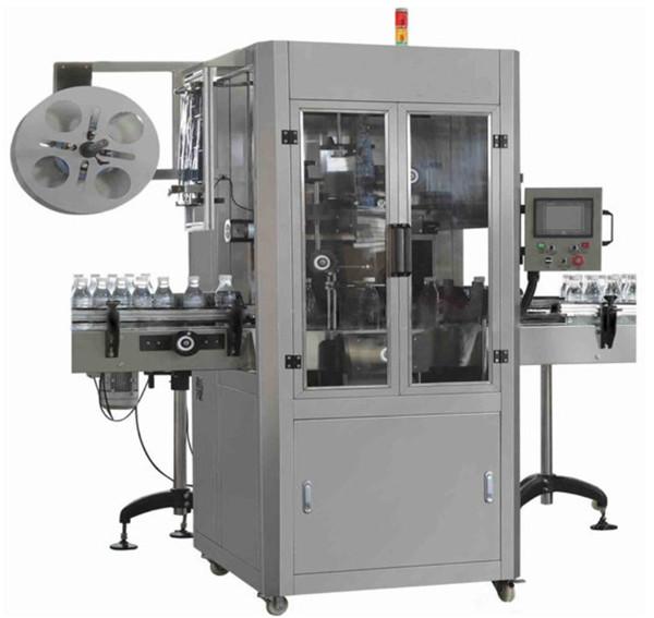 Machine à étiquettes de douille de rétrécissement d'ANIMAL FAMILIER de l'eau minérale pour la bouteille ronde