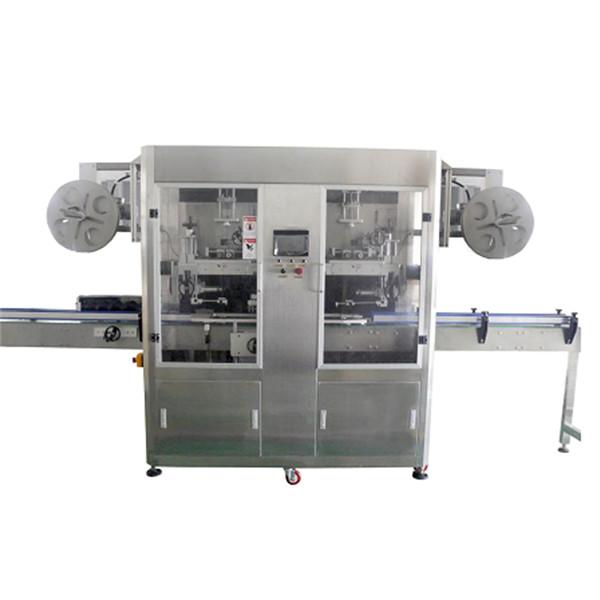 Machine à étiquettes de douille de rétrécissement d'acier inoxydable de bouteille d'ANIMAL FAMILIER pour divers CE de bouteilles