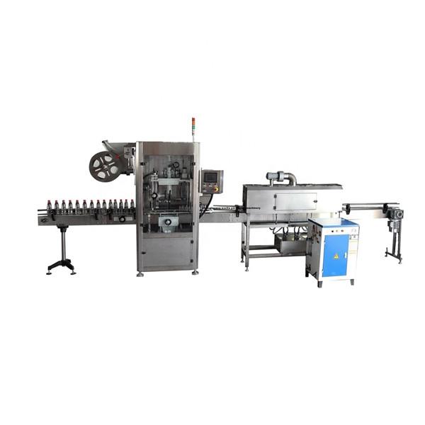 Machine d'applicateur d'étiquettes de manchon rétractable en acier inoxydable fonctionnel PET