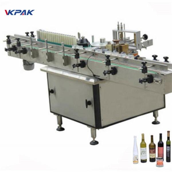Machine d'applicateur d'étiquette de pâte et de colle froide pour différentes bouteilles automatiques