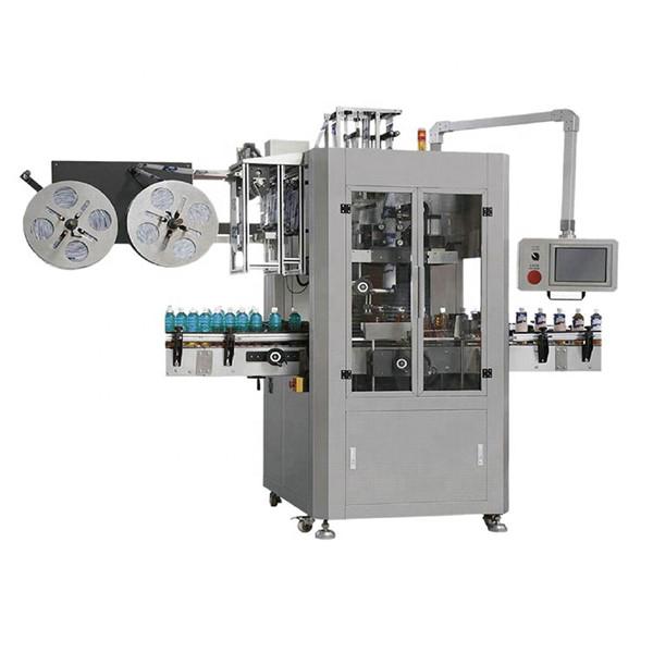 Machine d'étiquetage de manchon rétractable de pré-position de bouteille d'animal familier
