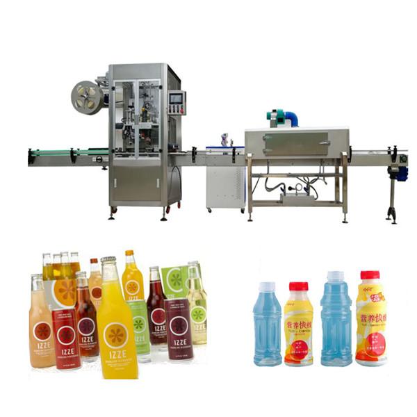 Machine à étiquettes de douille de rétrécissement de bouteille d'animal familier avec le tunnel de rétrécissement