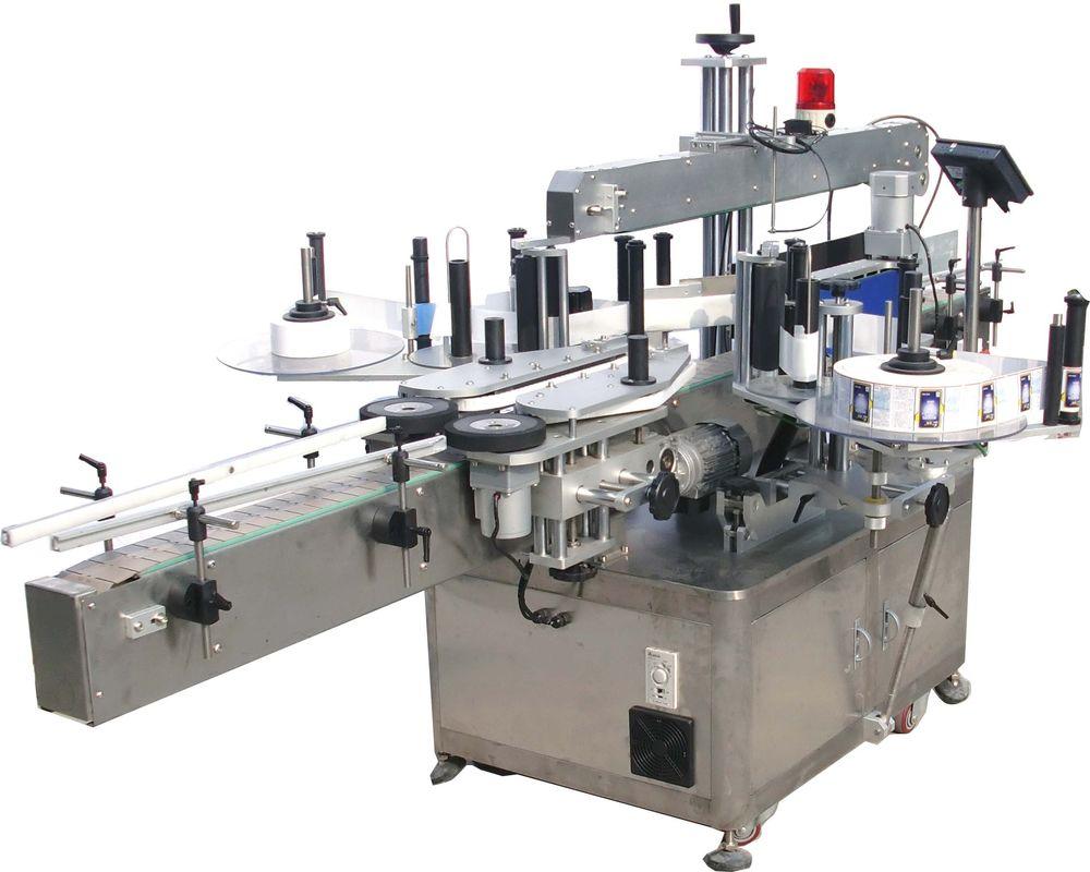 Machine d'étiquetage d'autocollant d'huile hydraulique double face à grande vitesse