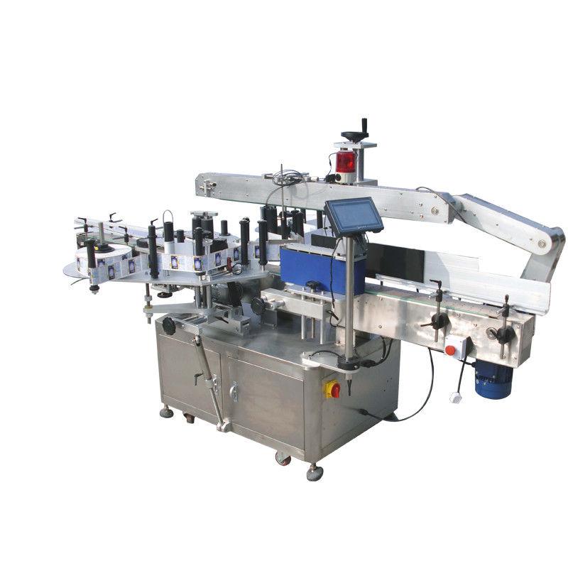 Machine à étiquettes double côté autocollant de bouteilles rondes pour boisson, nourriture, produit chimique