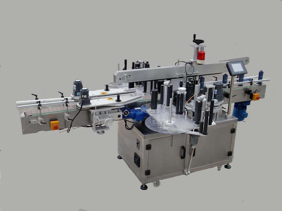 Machine à étiqueter automatique de double autocollant latéral avec le dispositif de radiomessagerie et la machine de codage