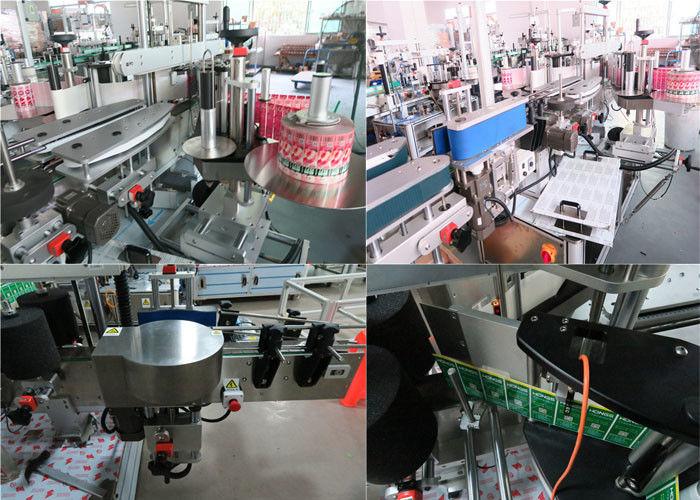 Machine à étiqueter avant et arrière de bouteilles quotidiennes, machine à étiqueter de pot