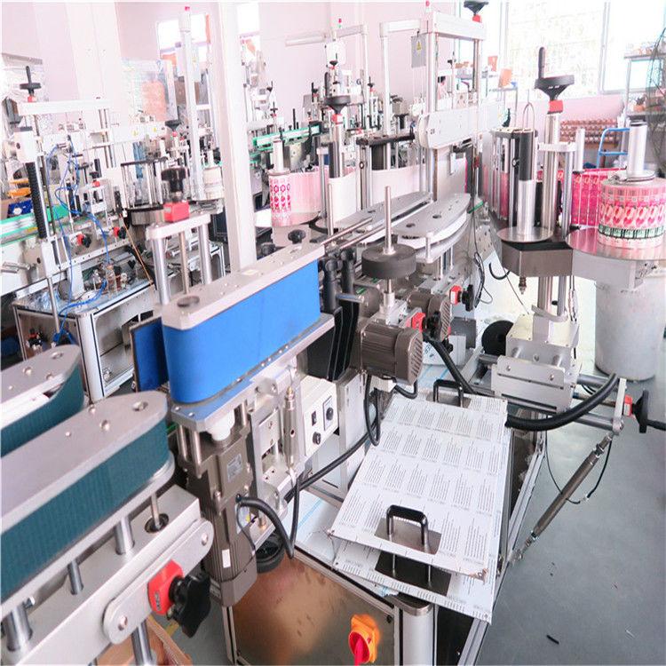 Machine à étiqueter double face de bouteille pour divers pot de bouteille carré plat