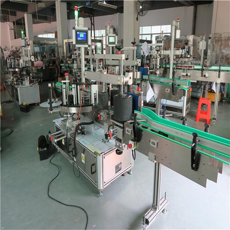 Machine à étiqueter ronde de bouteille d'animal familier, machine automatique d'applicateur d'étiquette