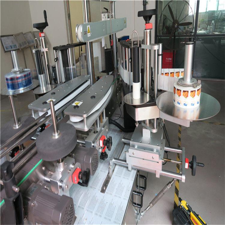 Machine d'applicateur d'étiquettes d'autocollant de bouteille ronde simple / double face