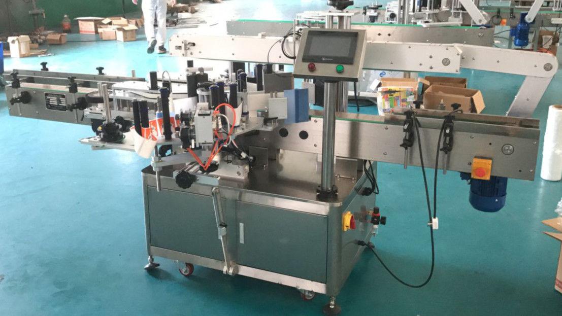 Machine d'applicateur d'étiquette de côtés avant et arrière avec le mécanisme de correction