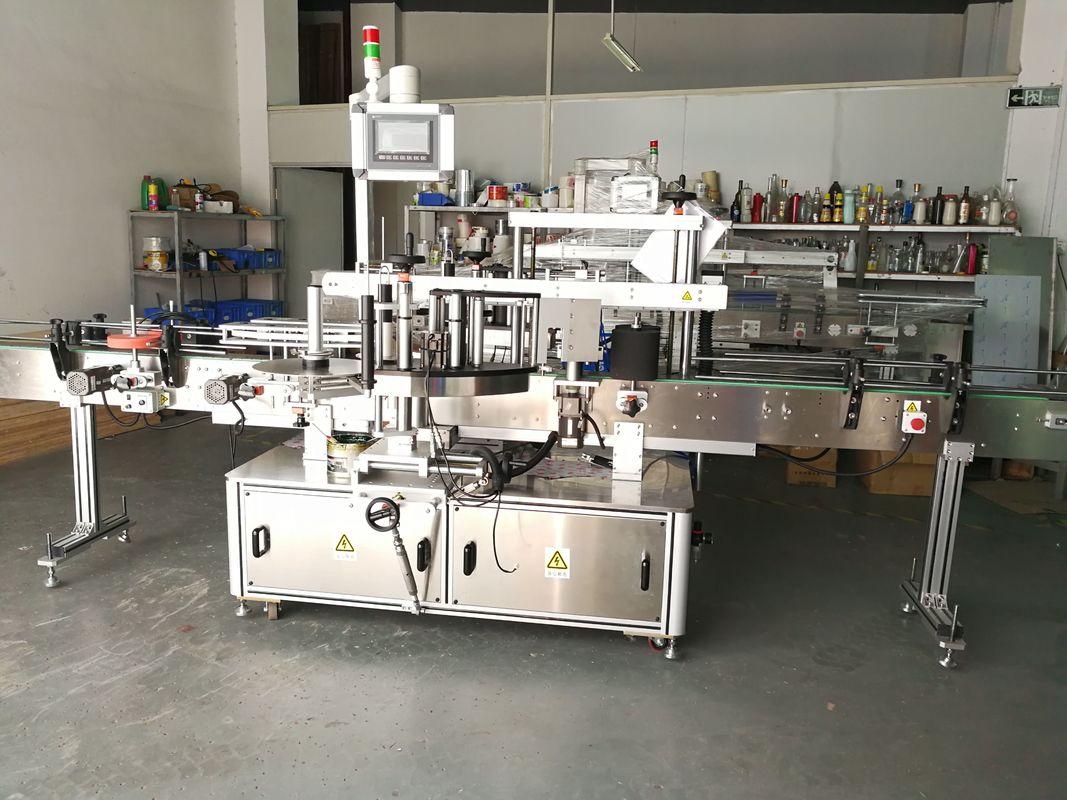 Machine d'étiquetage de bouteilles rondes / applicateur d'étiquettes à surface plate entièrement automatique