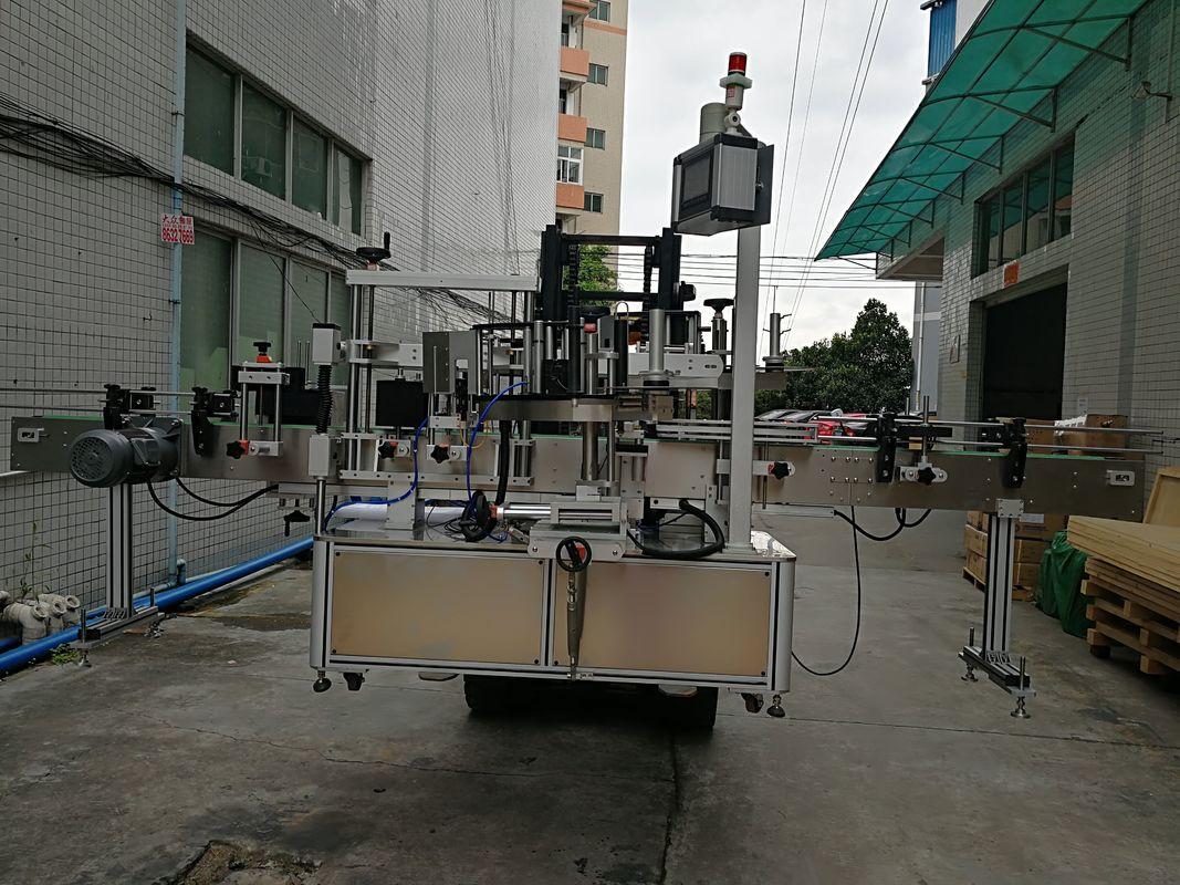 Double applicateur latéral automatique d'étiquette de machine à étiquettes d'autocollant pour le pot en plastique