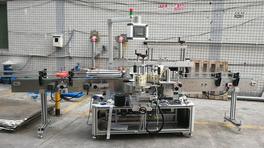 Double face adhésive automatique de machine à étiquettes de bouteille carrée