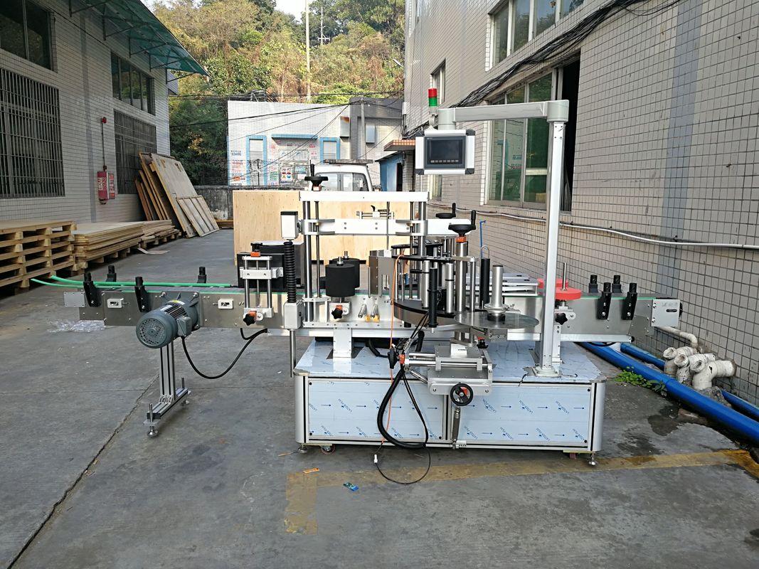 Machine à étiquettes automatique de bouteille plate d'autocollant intégrée avant et arrière
